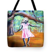 Twirl Under The Oaks Tote Bag