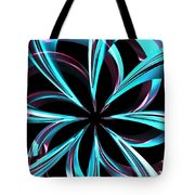 Twisted Blue Tote Bag
