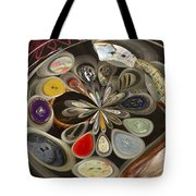 Twisted Button Tote Bag