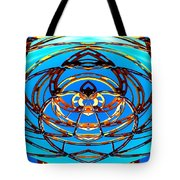 Heart In Blues Tote Bag