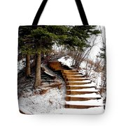 Twisted Staircase Tote Bag