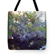 Twisted Tree Tote Bag by Carey Chen