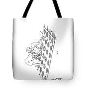 Twister Patent Drawing Tote Bag