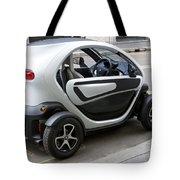 Twizy Rental Electric Car Side And Back Milan Italy Tote Bag