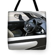 Twizy Rental Electric Car Side And Interior Milan Italy Tote Bag