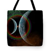 Two Alien Planets In A Distant Part Tote Bag