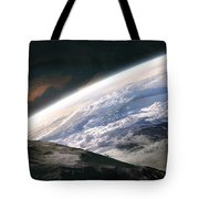 Two Astronauts Exploring A Moon Tote Bag