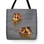 Two Baby Ducklings Tote Bag
