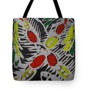 Two Beautiful Painted Palm Tree With Keg. Tote Bag