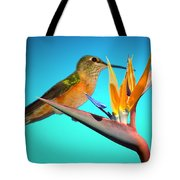 Two Birds Of Paradise Tote Bag