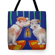 Two Border Terriers Together Tote Bag