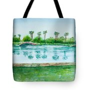 Two Bridges At Rainbow Lagoon Tote Bag