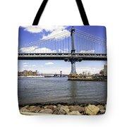 Two Bridges View - Manhattan Tote Bag