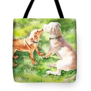 Two Brothers Labradors Tote Bag