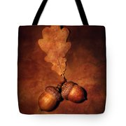 Two Brown Acorns Tote Bag