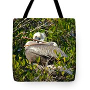 Two Brown Pelicans Tote Bag