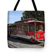 Two Cable Cars San Francisco Tote Bag