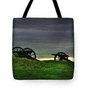 Two Cannons At Gettysburg Tote Bag by Bill Cannon