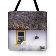 Two Chairs Outside A Cottage, County Tote Bag