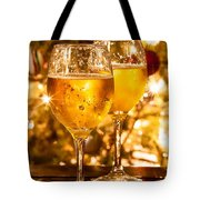Two Champagne Glasses Ready To Bring In The New Year Tote Bag