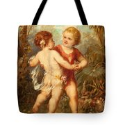 Two Cherubs Tote Bag