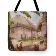 Two Chickens Two Pigs And Huts Jamaica Tote Bag