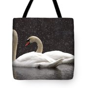 Two Christmas Swans A Swimming Tote Bag