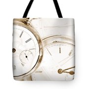 Two Clocks Tote Bag