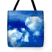Two Clouds In The Sky Tote Bag