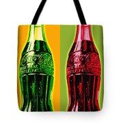 Two Coke Bottles Tote Bag
