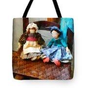 Two Colonial Rag Dolls Tote Bag