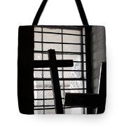 Two Crosses Tote Bag