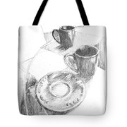 Two Cups And A Saucer Tote Bag