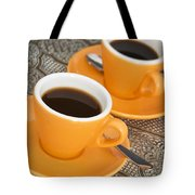 Two Cups Of Espresso Tote Bag