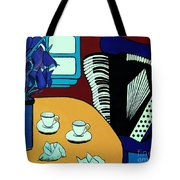 Two Cups One Accordian Tote Bag
