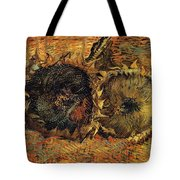 Two Cutted Sunflowers Tote Bag