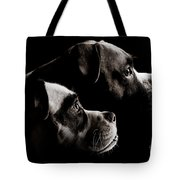 Two Dogs Tote Bag