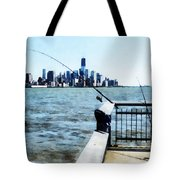 Two Fishing Poles Tote Bag
