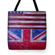 Two Flags American And British Tote Bag