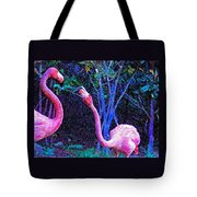 Two Flamingos Tote Bag