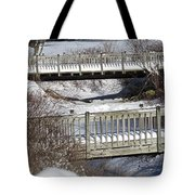 Two Foot Bridges Tote Bag