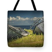 Two Forlorn Abandoned Boats On Prince Edward Island Tote Bag