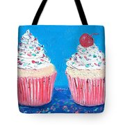 Two Frosted Cupcakes Tote Bag