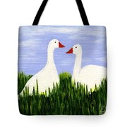 Two Geese Tote Bag