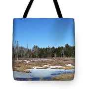 Two Geese Flying Tote Bag