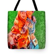 Two Girls Tote Bag