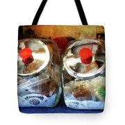 Two Glass Cookie Jars Tote Bag