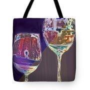 Two Glasses  Tote Bag