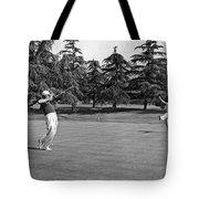 Two Golfers Body English Tote Bag