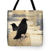Two Graveyard Blackbirds Tote Bag